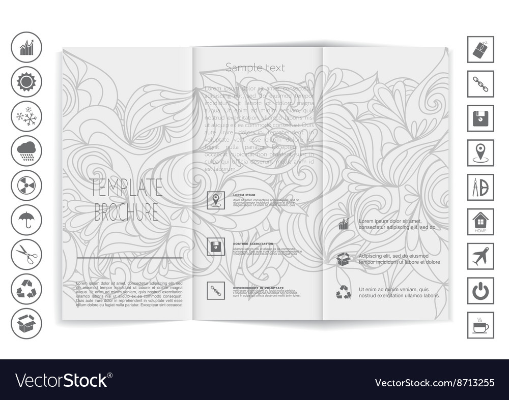 Tri-Fold Brochure mock up design