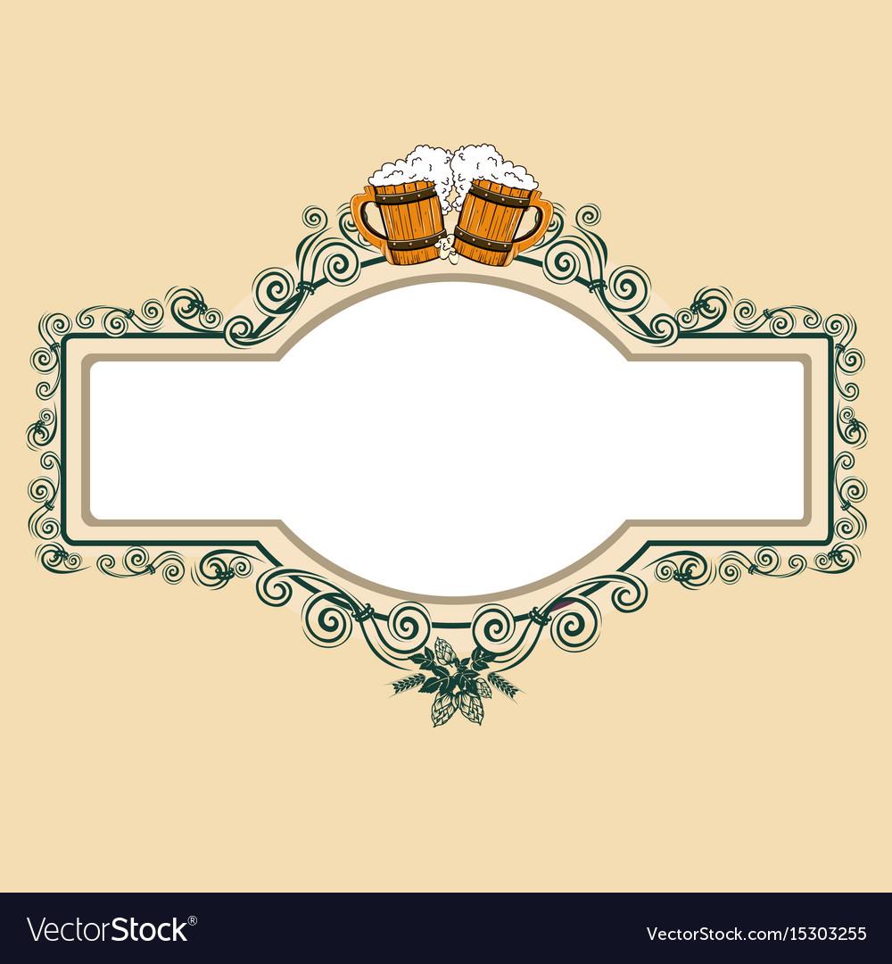 Vintage beer frame