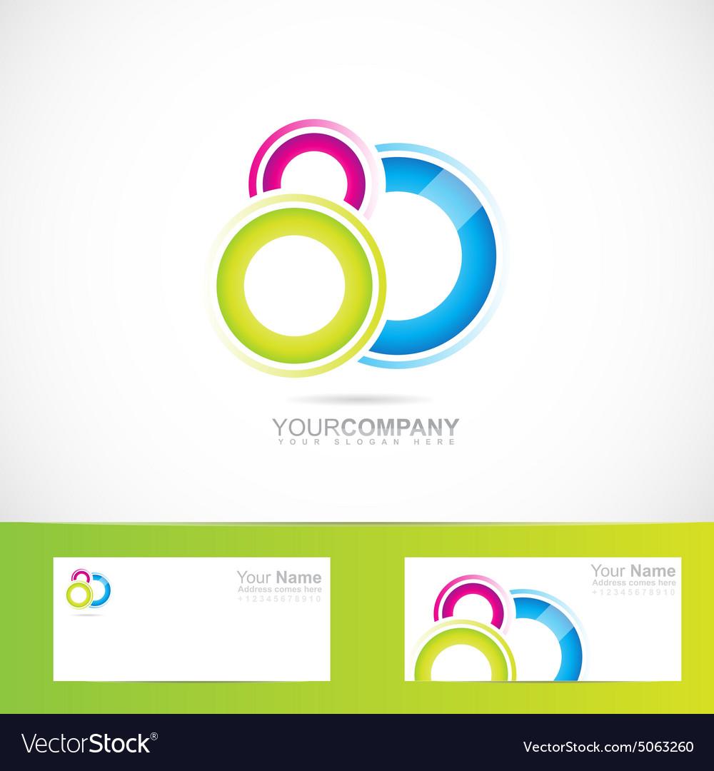 Abstract colored circles logo