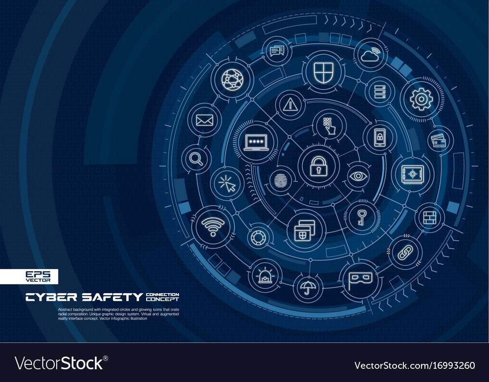 Abstract cyber security background digital