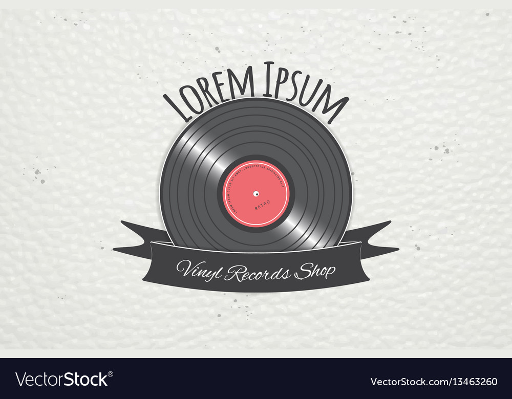 Color sticker music shop and studio recording