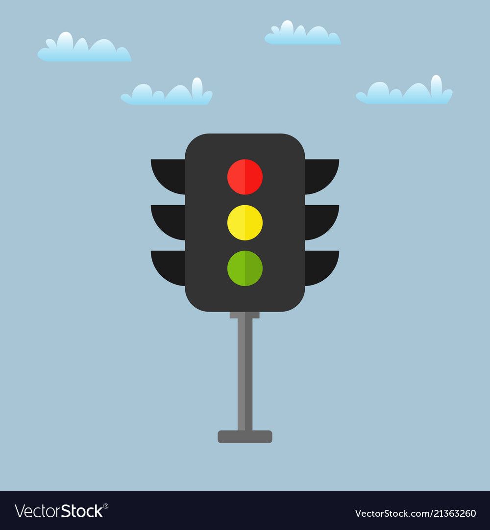 Colored traffic light icon