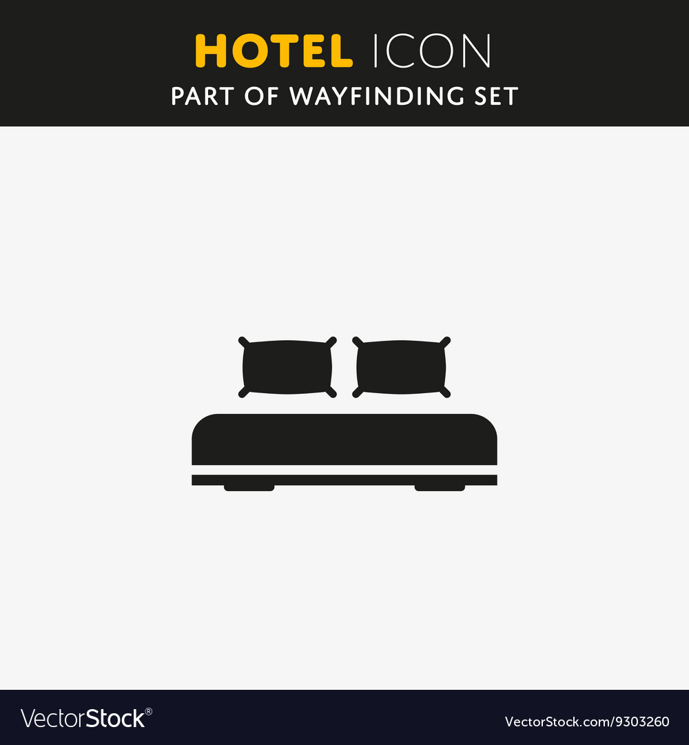 Double bed icon design