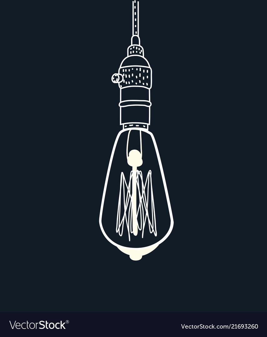 Drawing an edison lightbulb