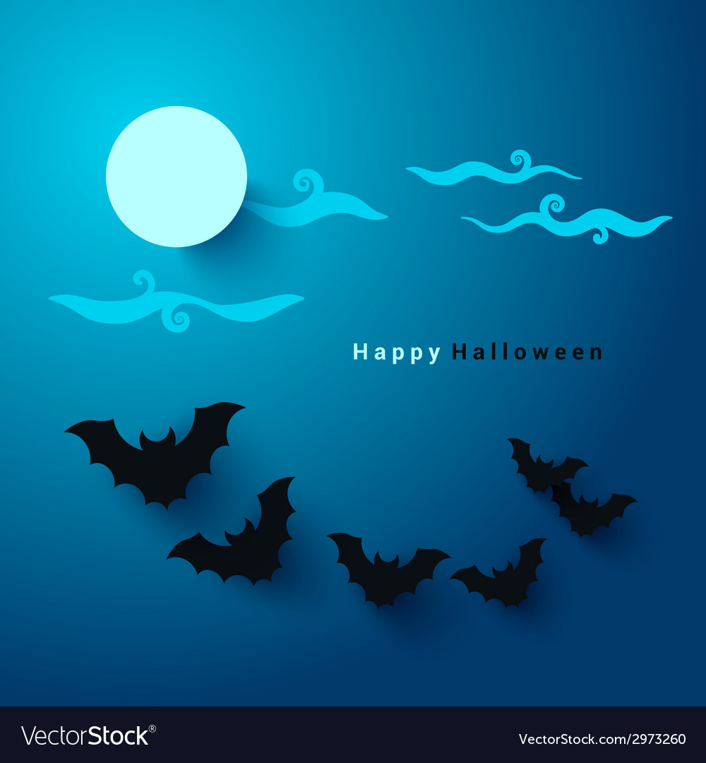 Halloween party paper cut background