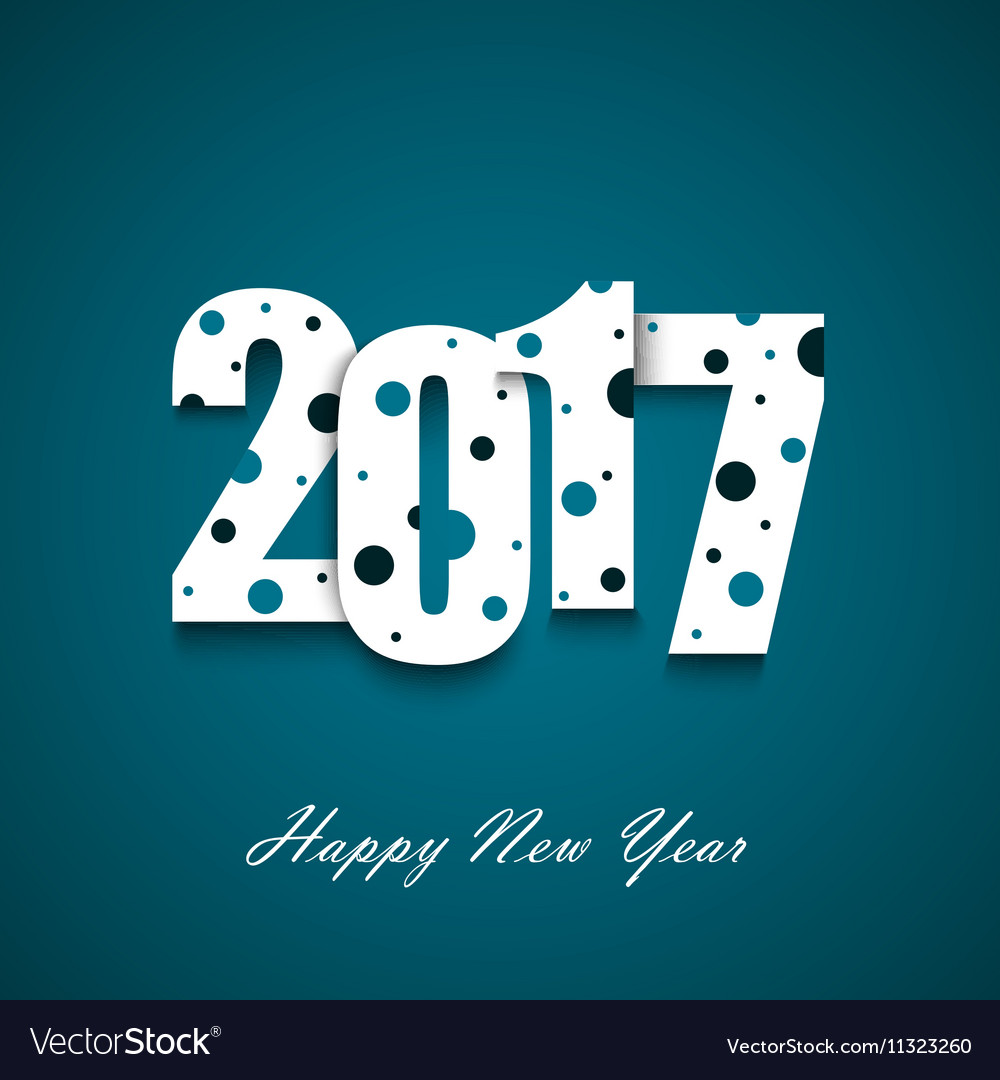 new year wishes with circles on an blue background vector image