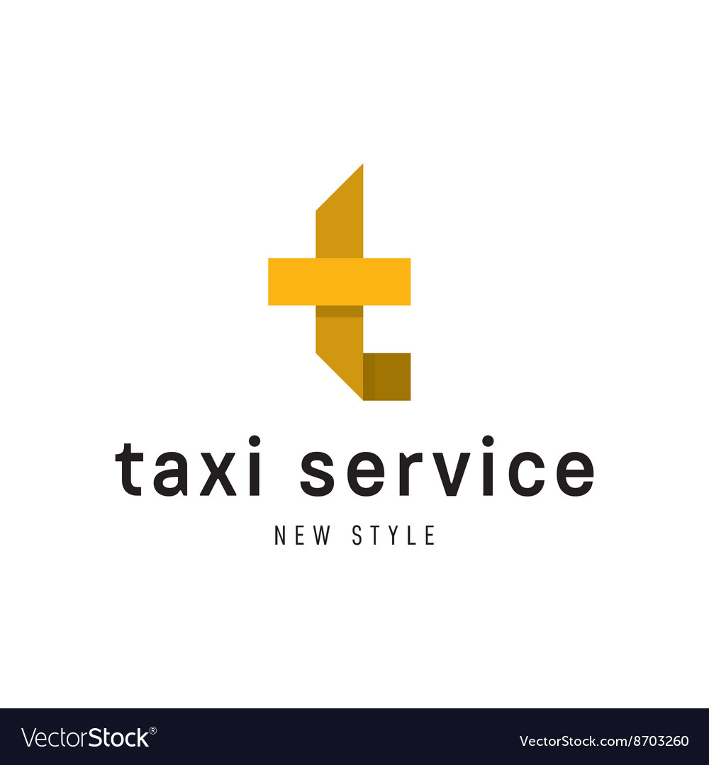 Taxi Service Logos sign Abstract geometrical
