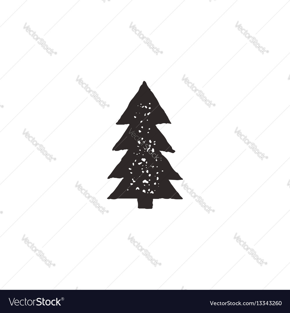 Tree icon retro vector image