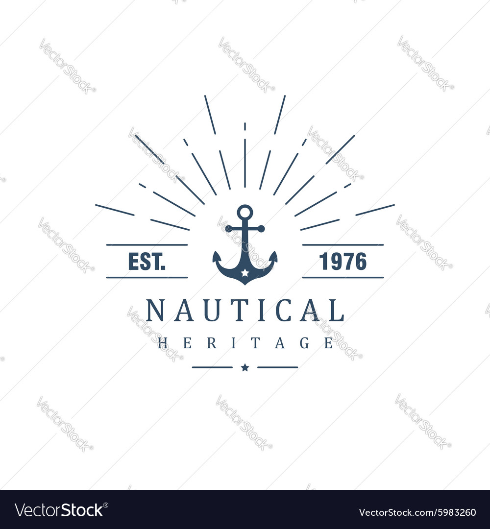 Vintage label with an anchor