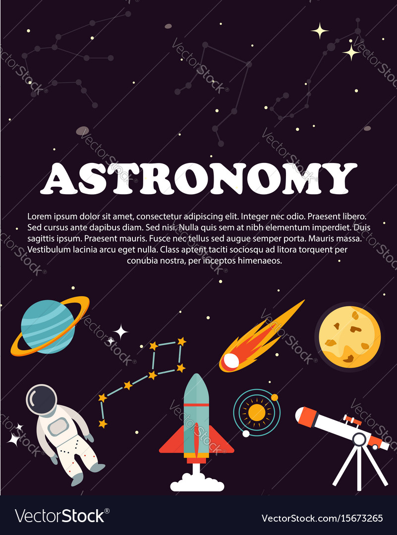 Astronomy study education and science layout