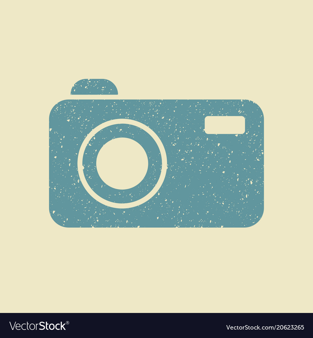 Camera icon in flat style