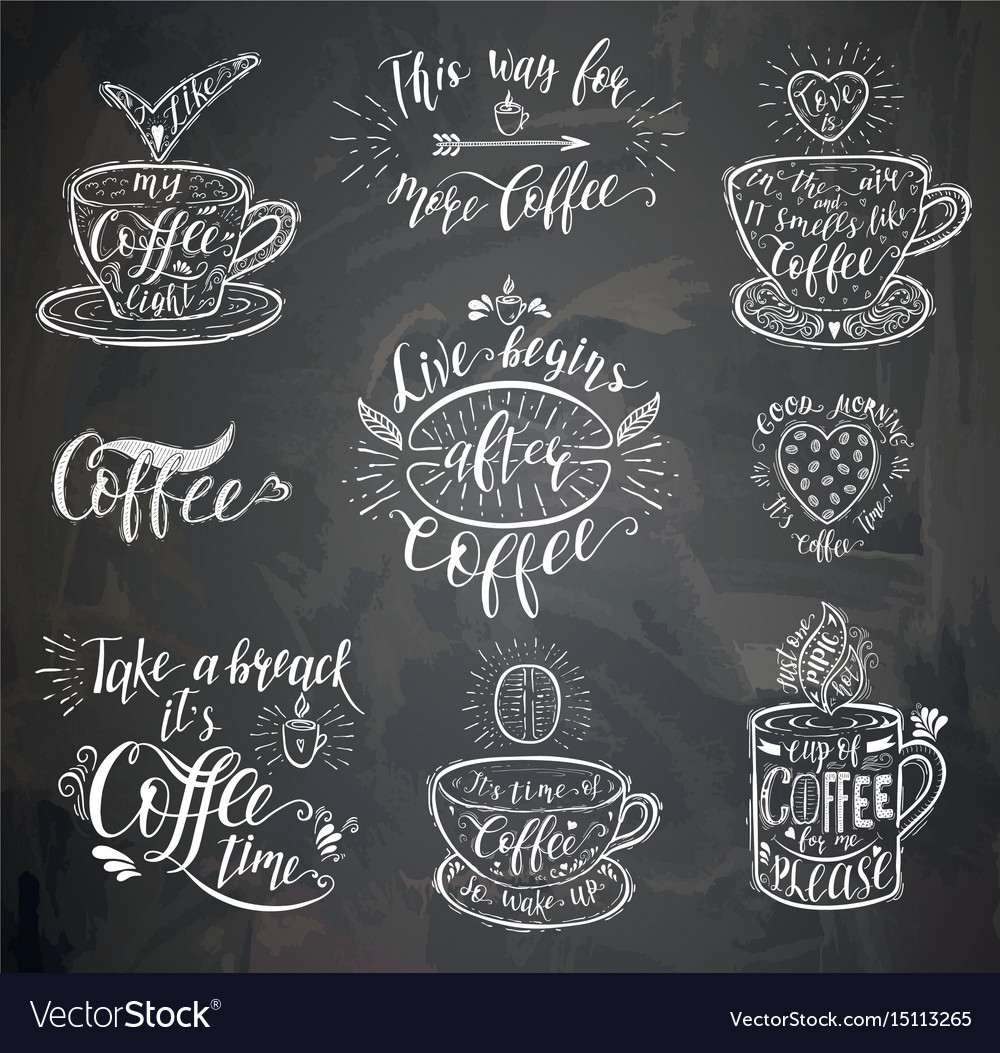 Coffee quote on the chalk board