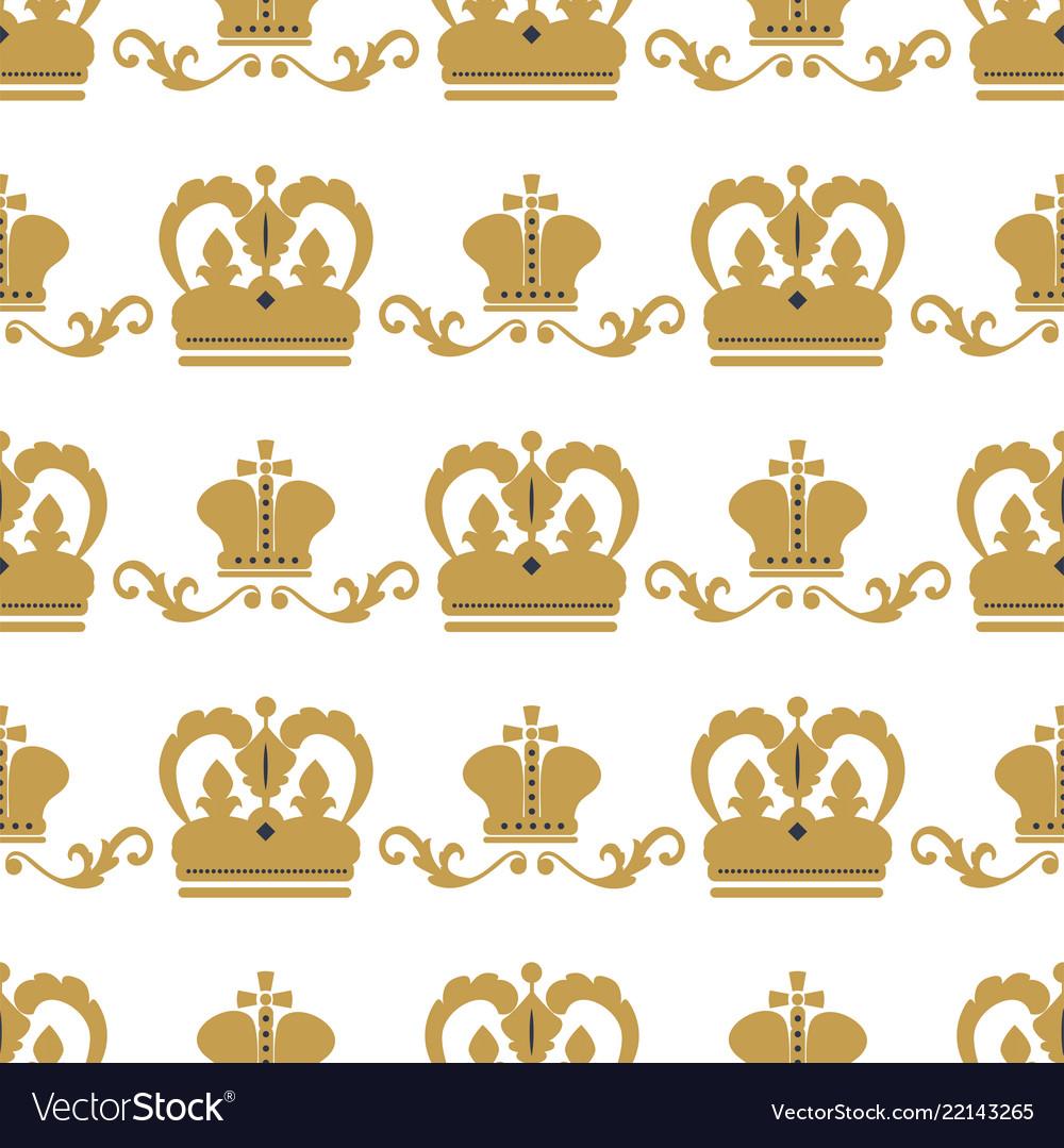 Crown king vintage premium seamless pattern