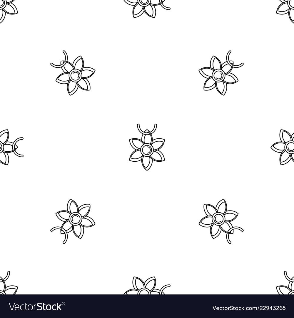 Flower necklace pattern seamless