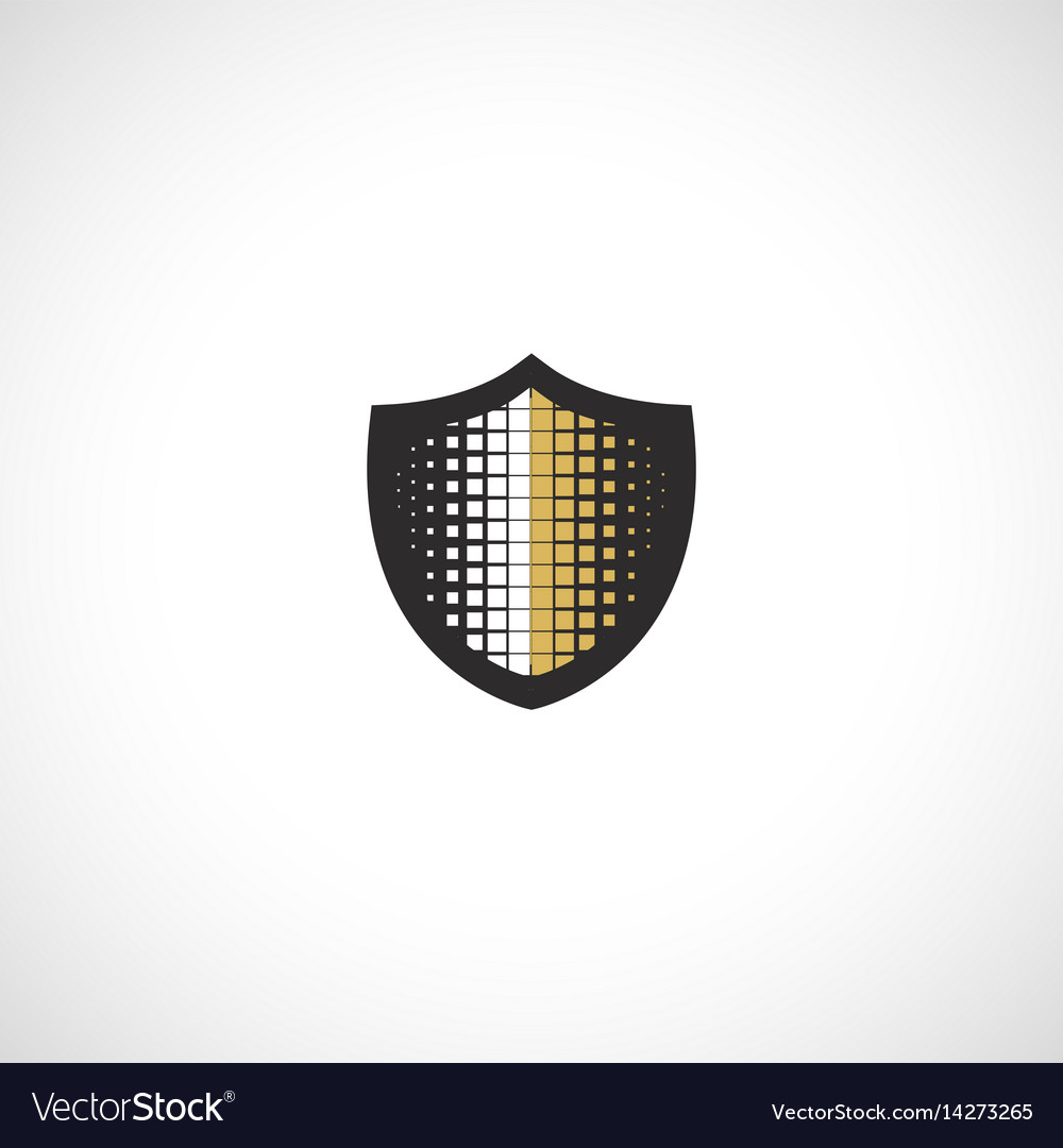 Isolated abstract medieval shield logo coat of