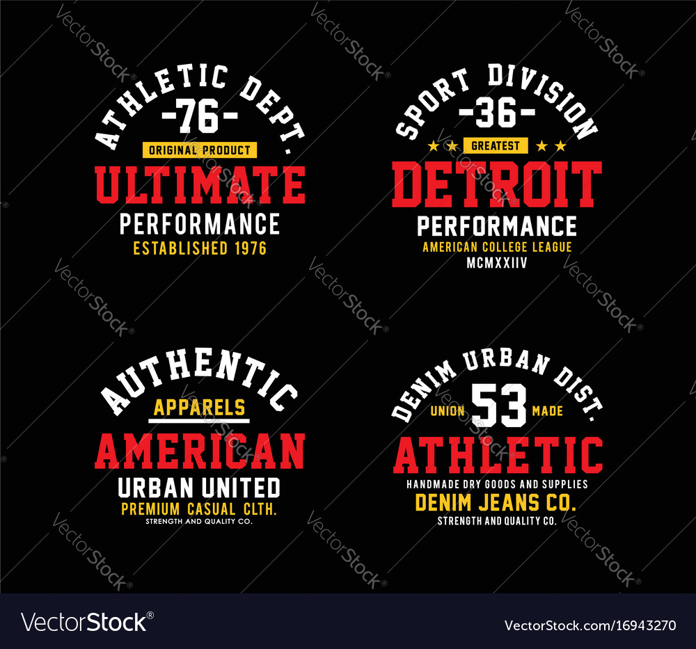 Athletics set design t-shirt graphic