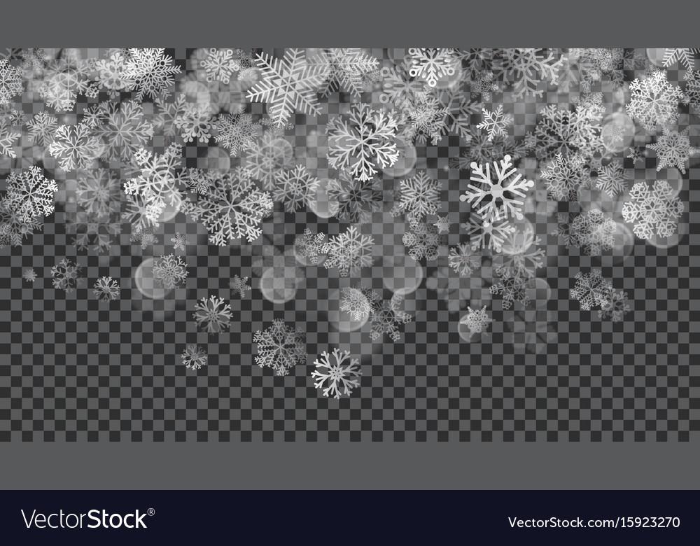 Christmas background of translucent falling