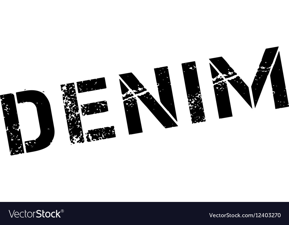 Denim rubber stamp vector image