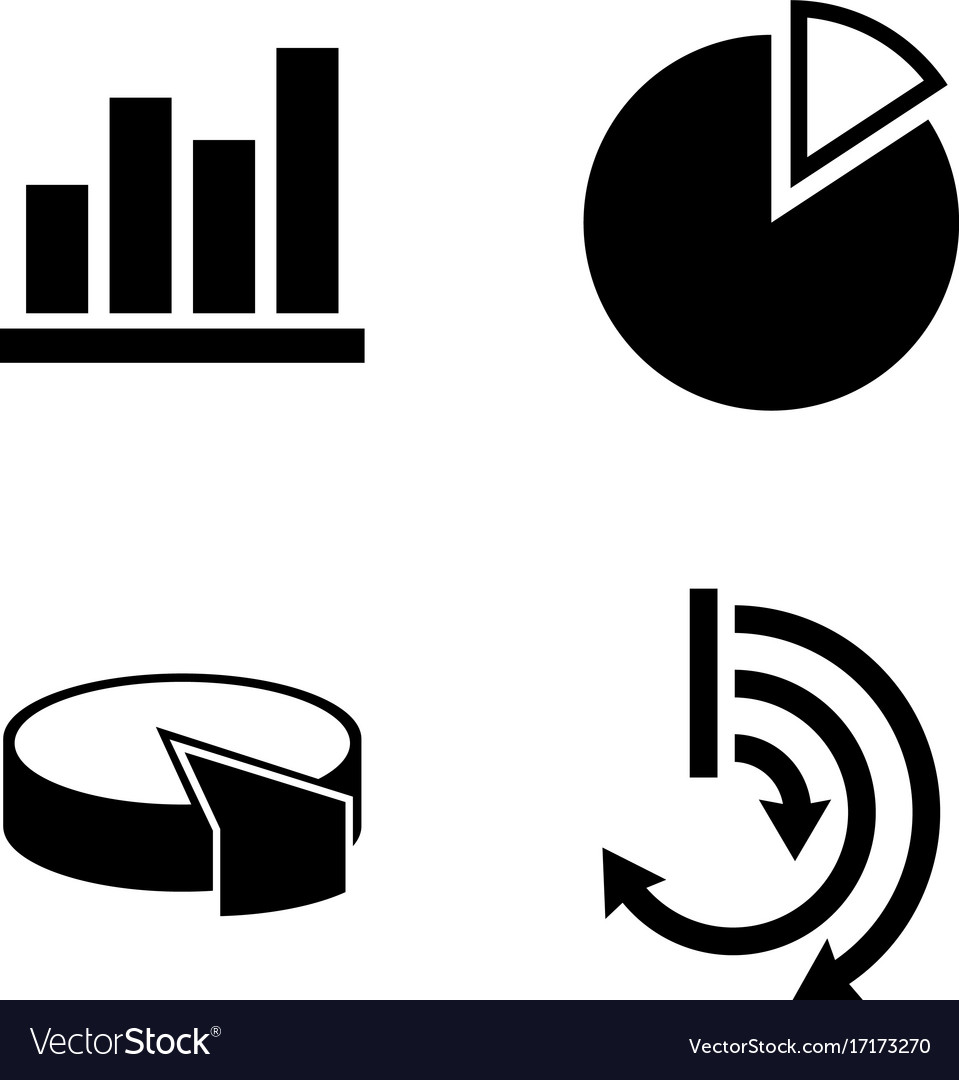 Diagram graphs simple related icons