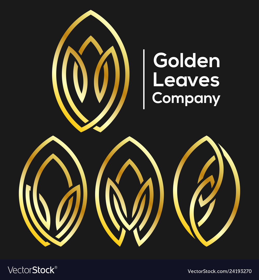 Golden leaves from the line logo