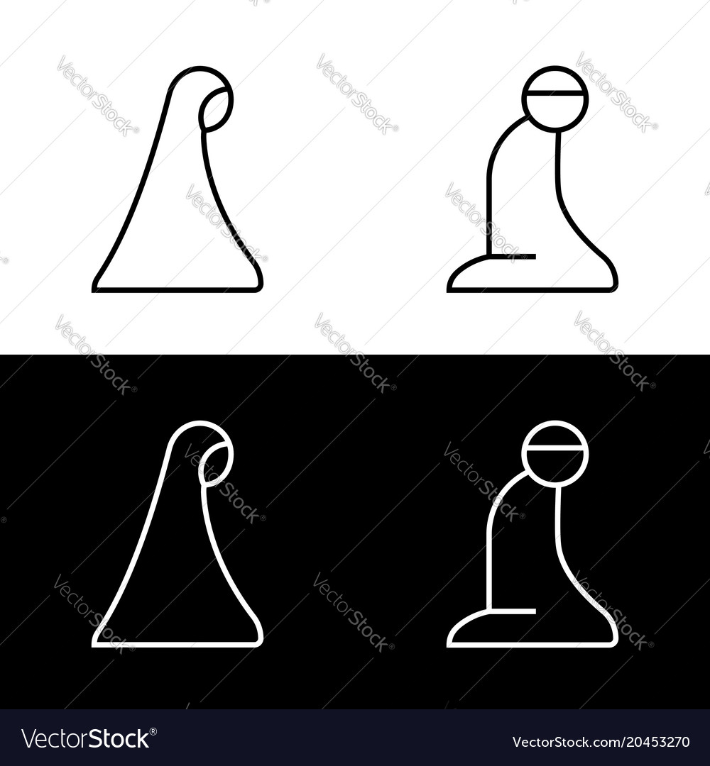 Islamic Prayer Room Area Sign Symbol Logo Icon Vector Image