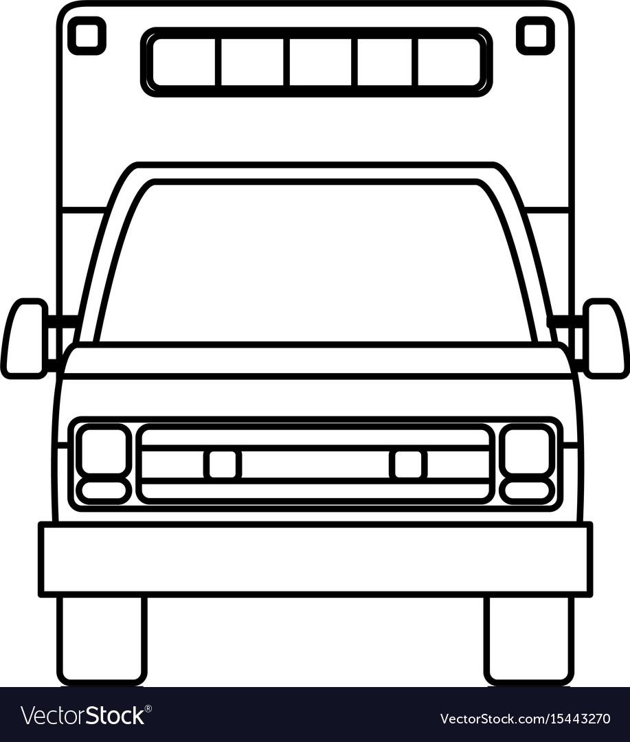 Isolated ambulance truck