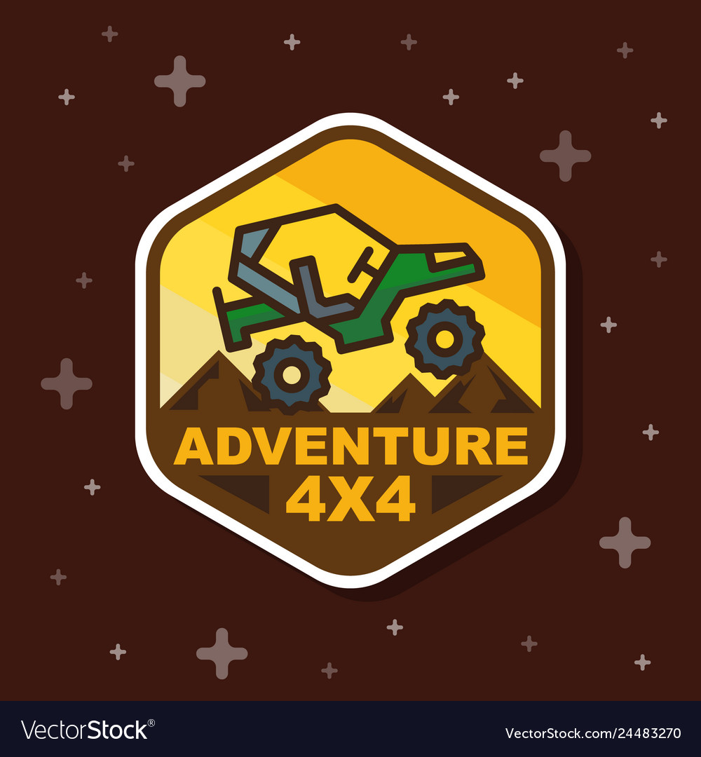 Off road 3x3 adventure badge banner
