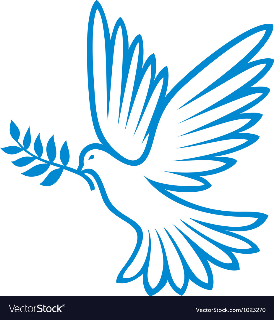 peace dove royalty free vector image vectorstock rh vectorstock com dove vector free download dove vector silhouette