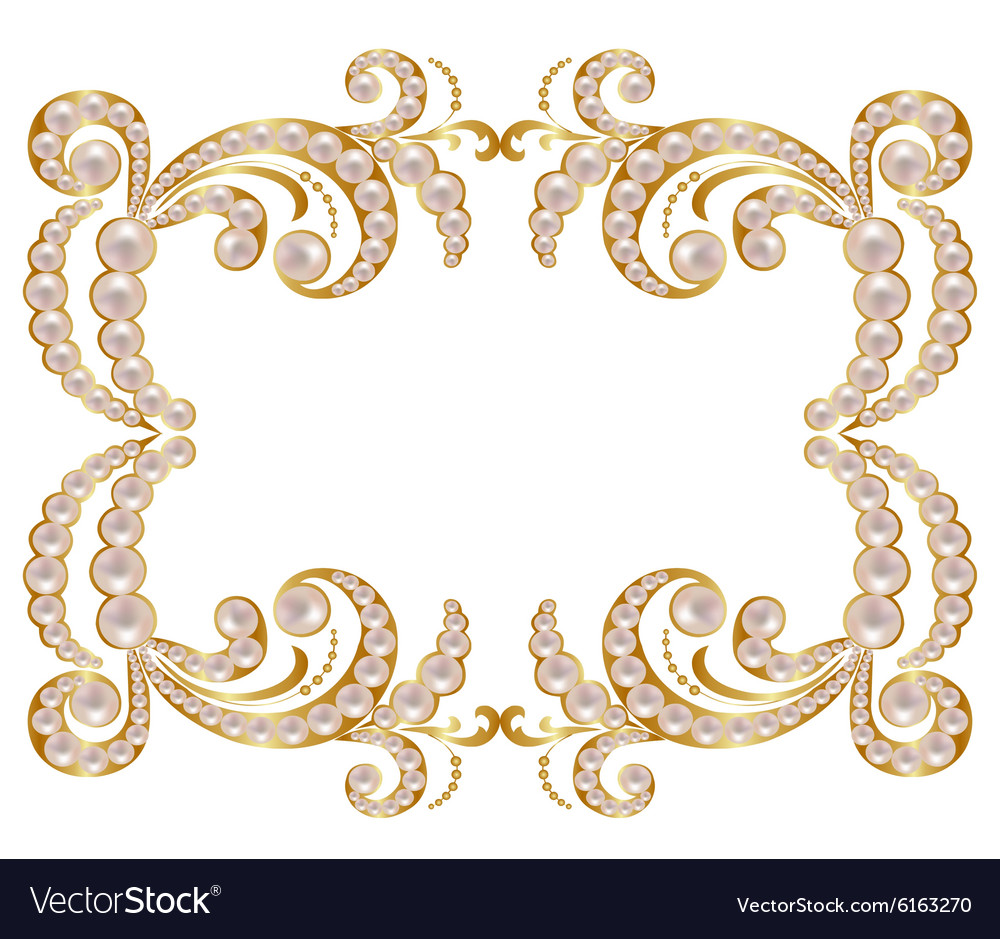 pearl frame royalty free vector image vectorstock