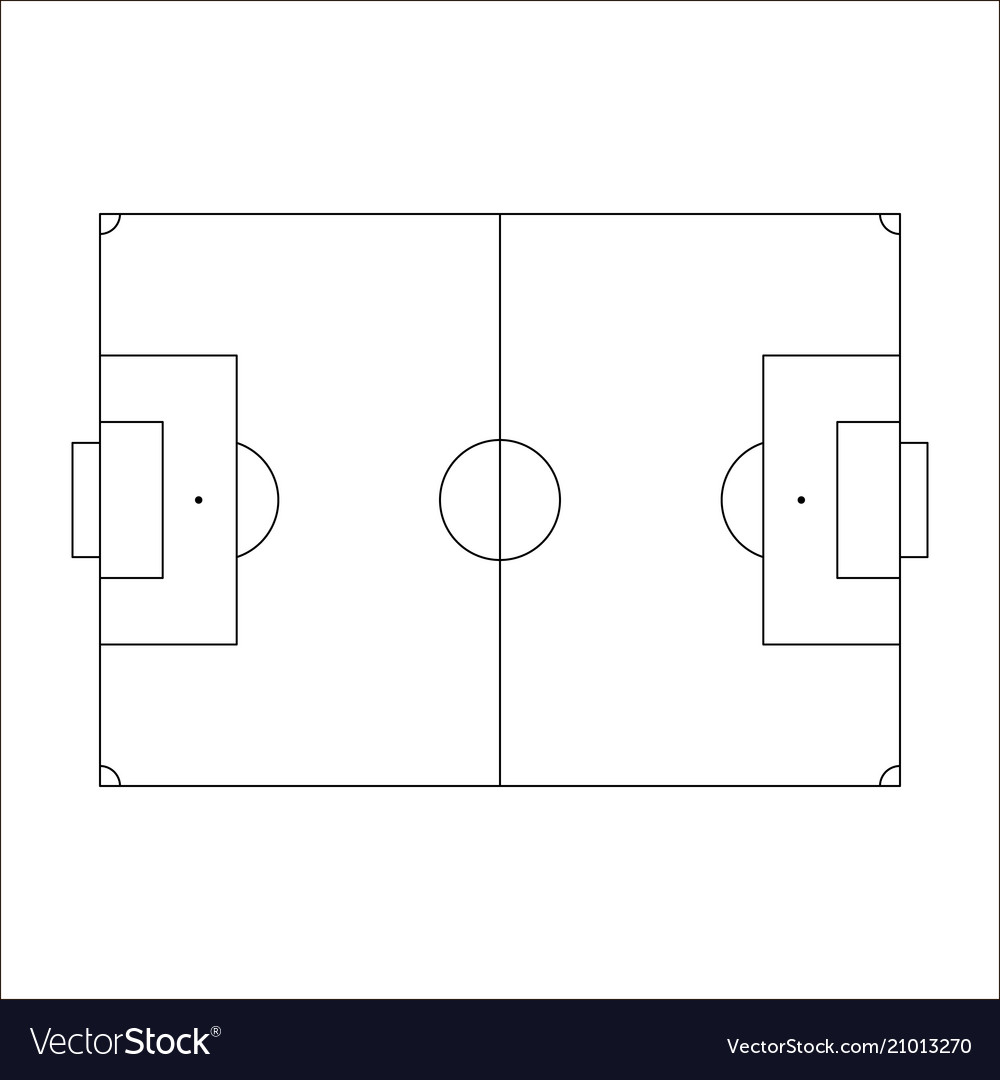 Soccer field icon sketch europe football field vector