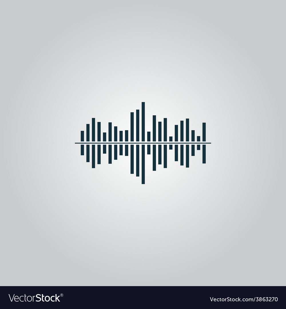 Sound wave icon - equalizer music element