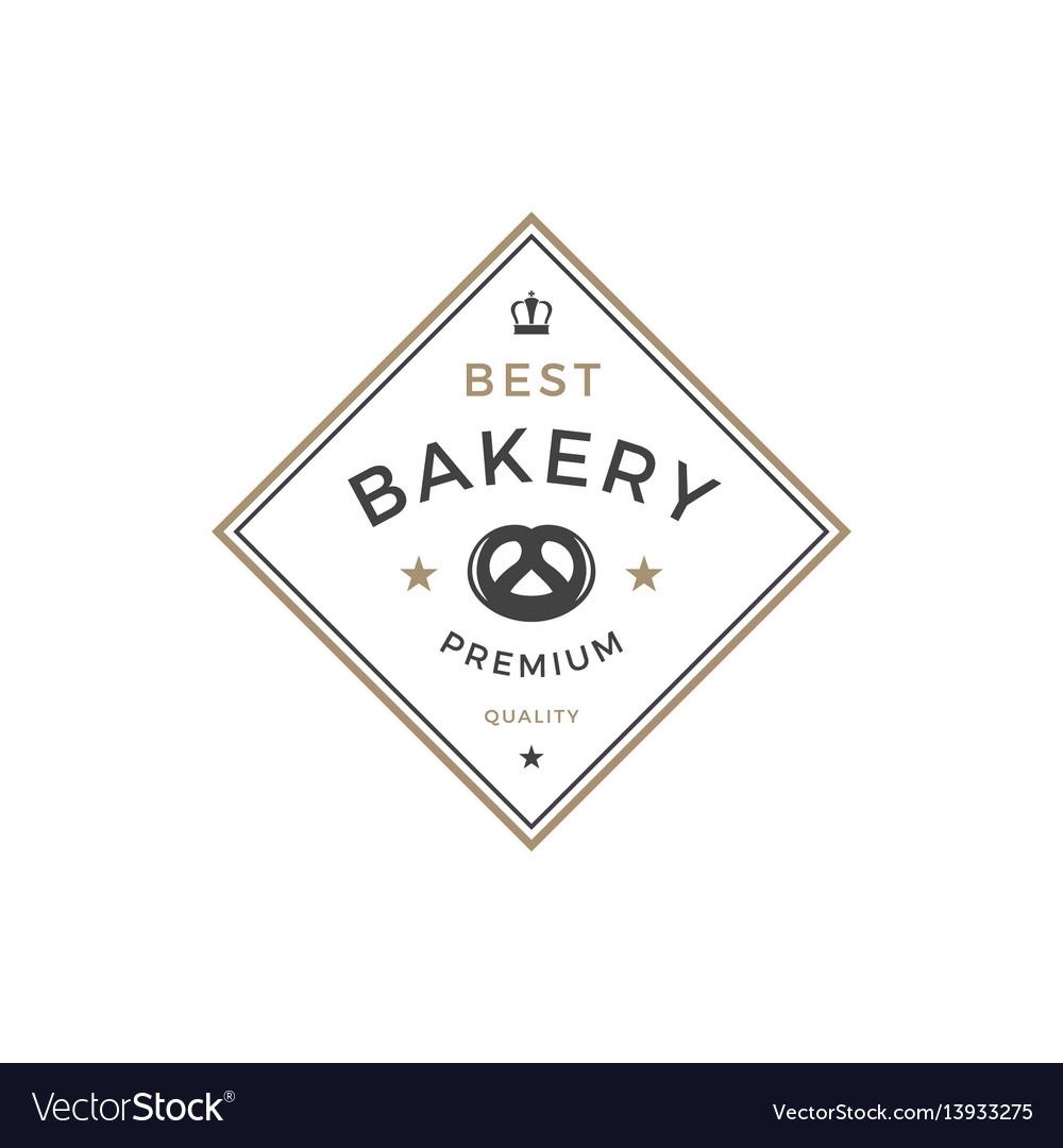 Bakery shop logo template object