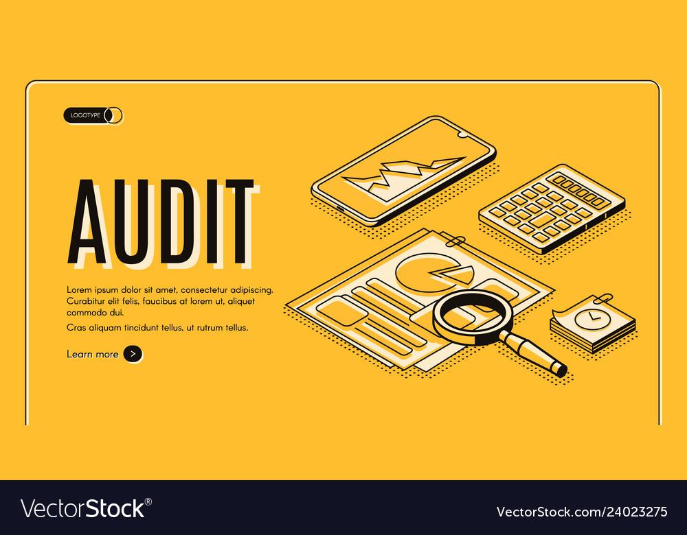 Business audit company isometric website