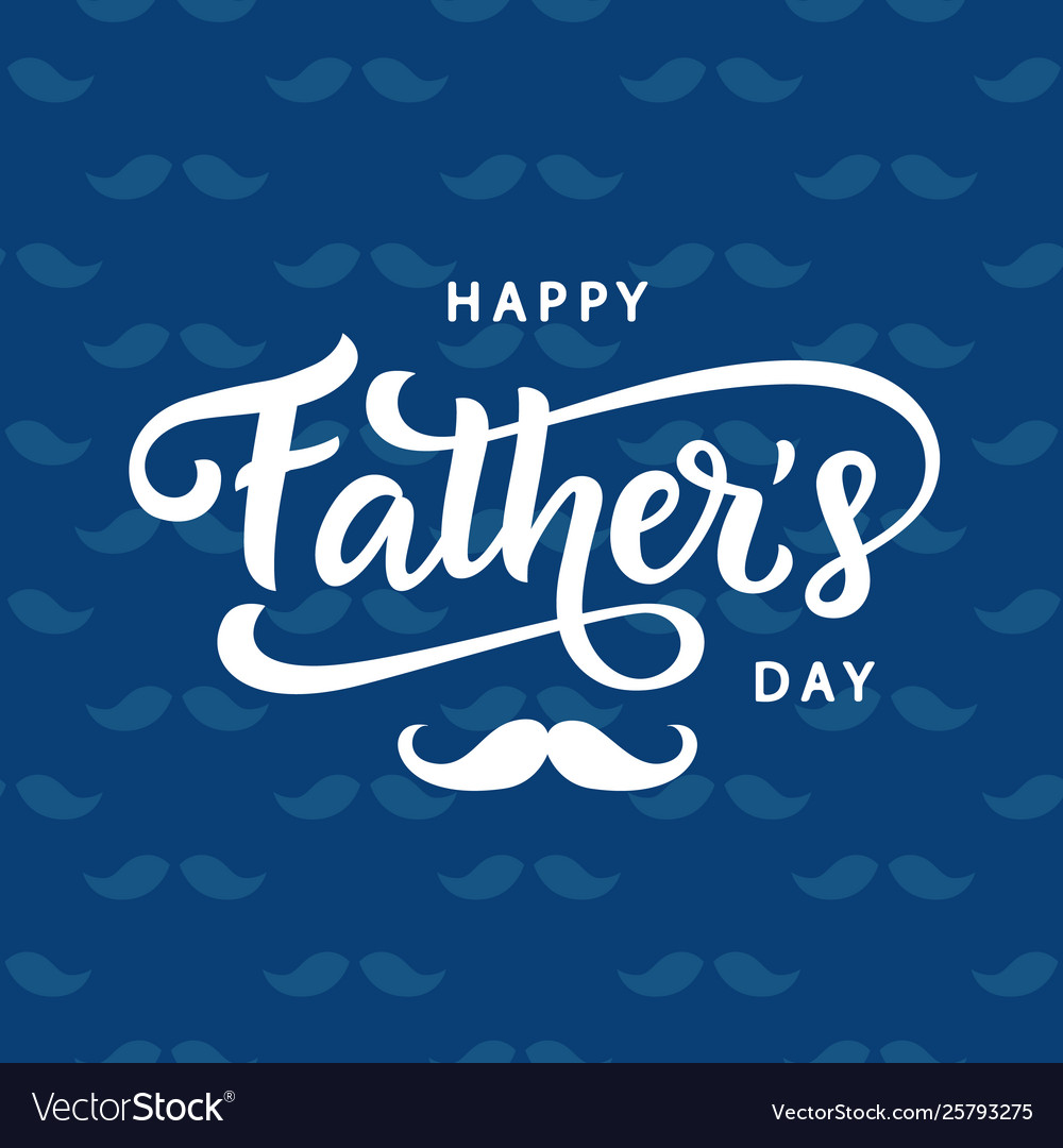 Happy fathers day poster badge with lettering