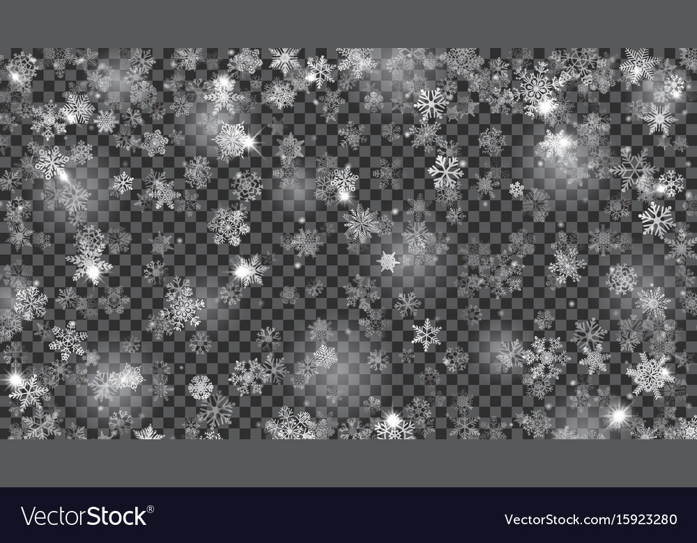 Christmas background of translucent falling