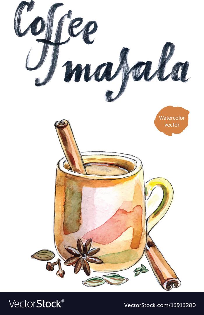 Indian coffee masala vector image