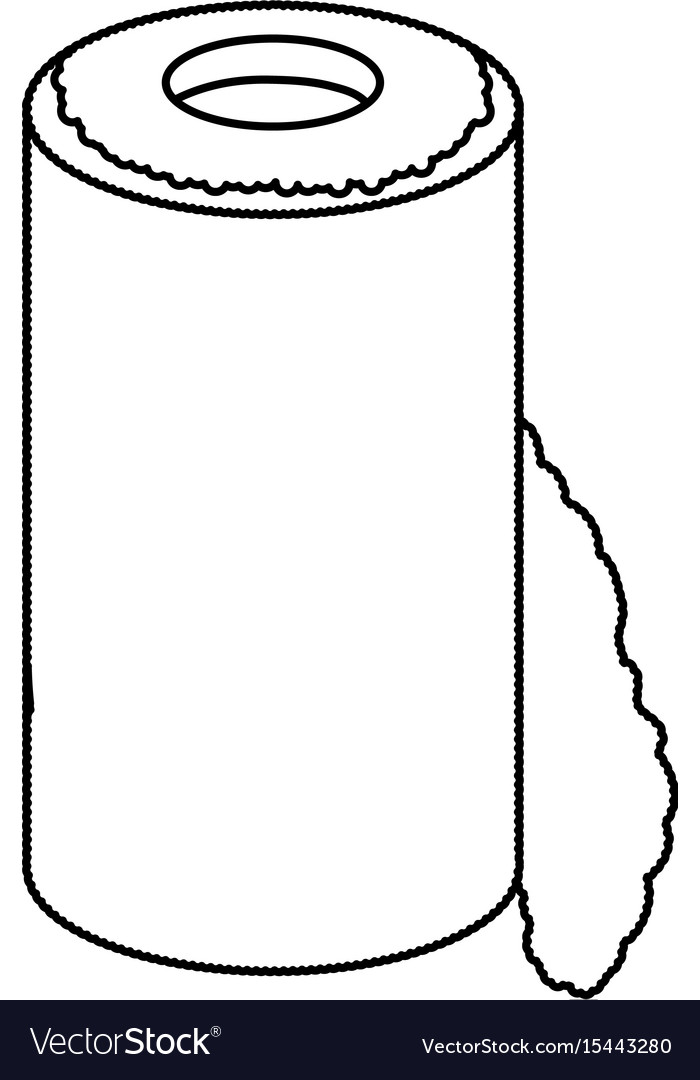 Isolated paper towel roll