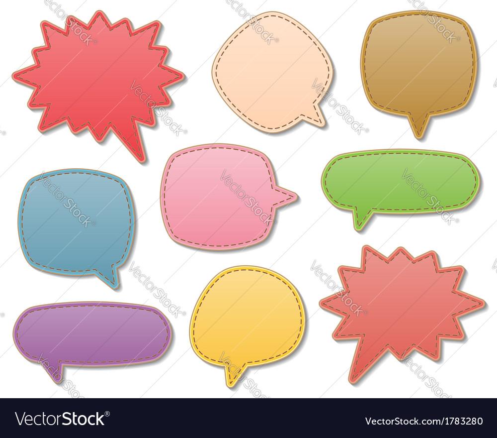 Leather speech bubbles