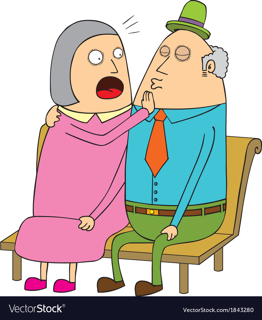 Old couple dating vector image