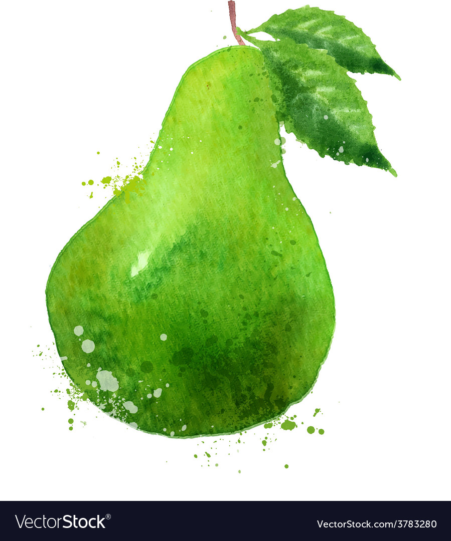 PEAR logo design template fruit or food