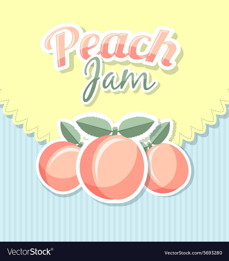 Retro peach jam