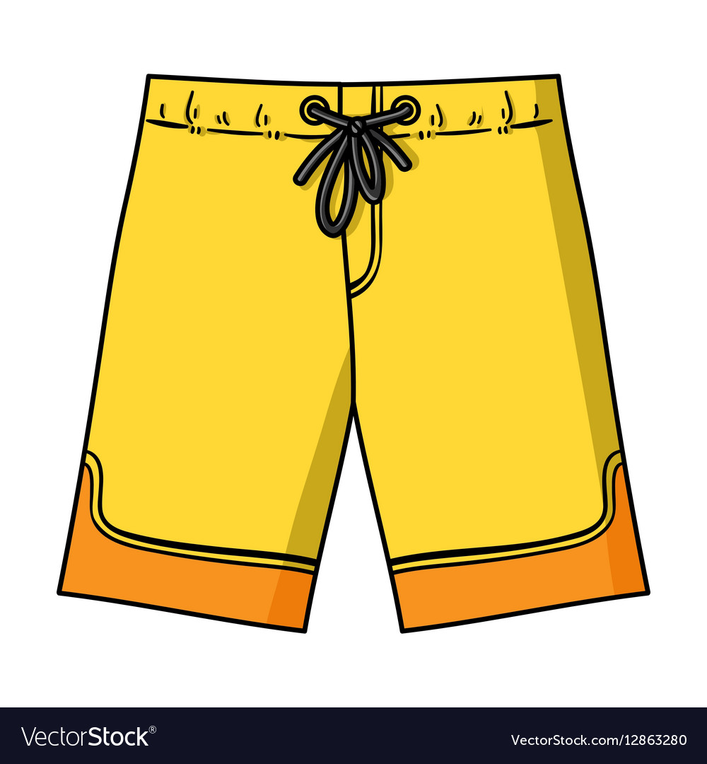 Swimming trunks icon in cartoon style isolated on