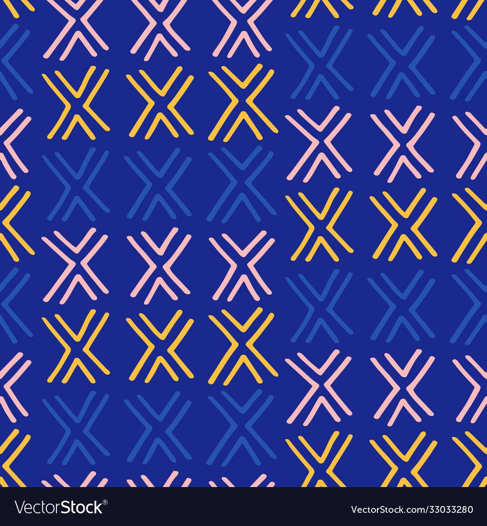 Tribal boho native american seamless pattern