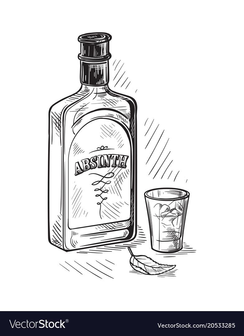 Bottles for alcohol sketch