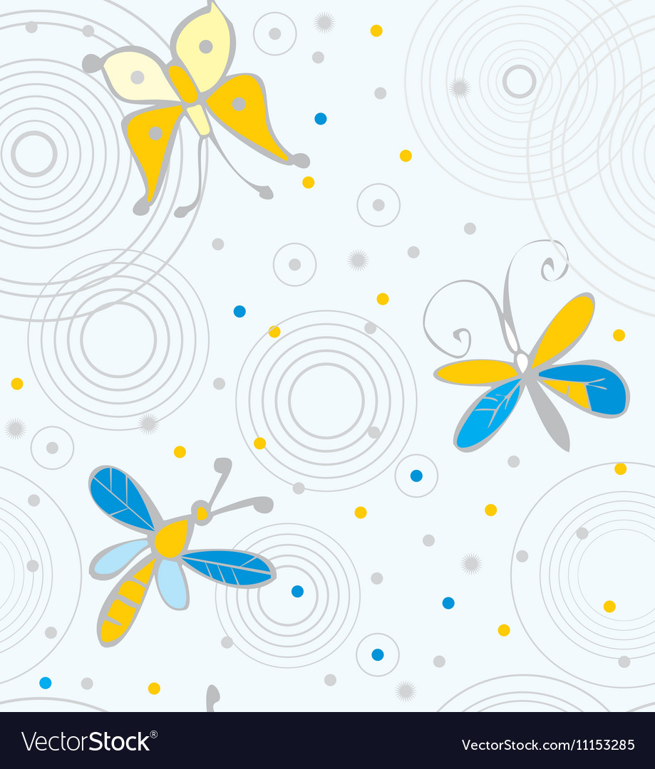 Butterflies and dragonflies on water