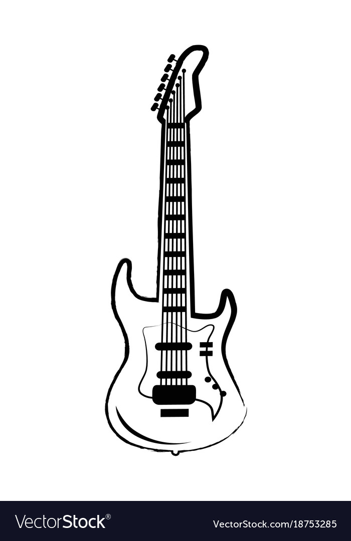 Guitar big icon on on white
