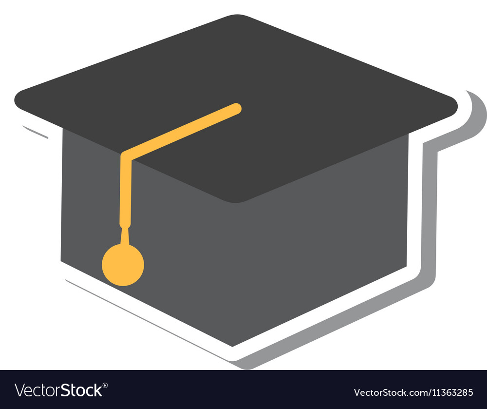 Hat graduate isolated icon