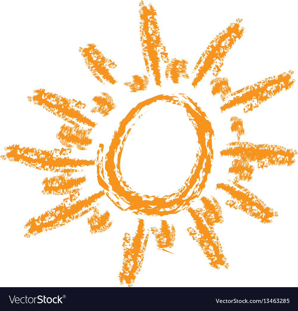 Orange sun abstract icon