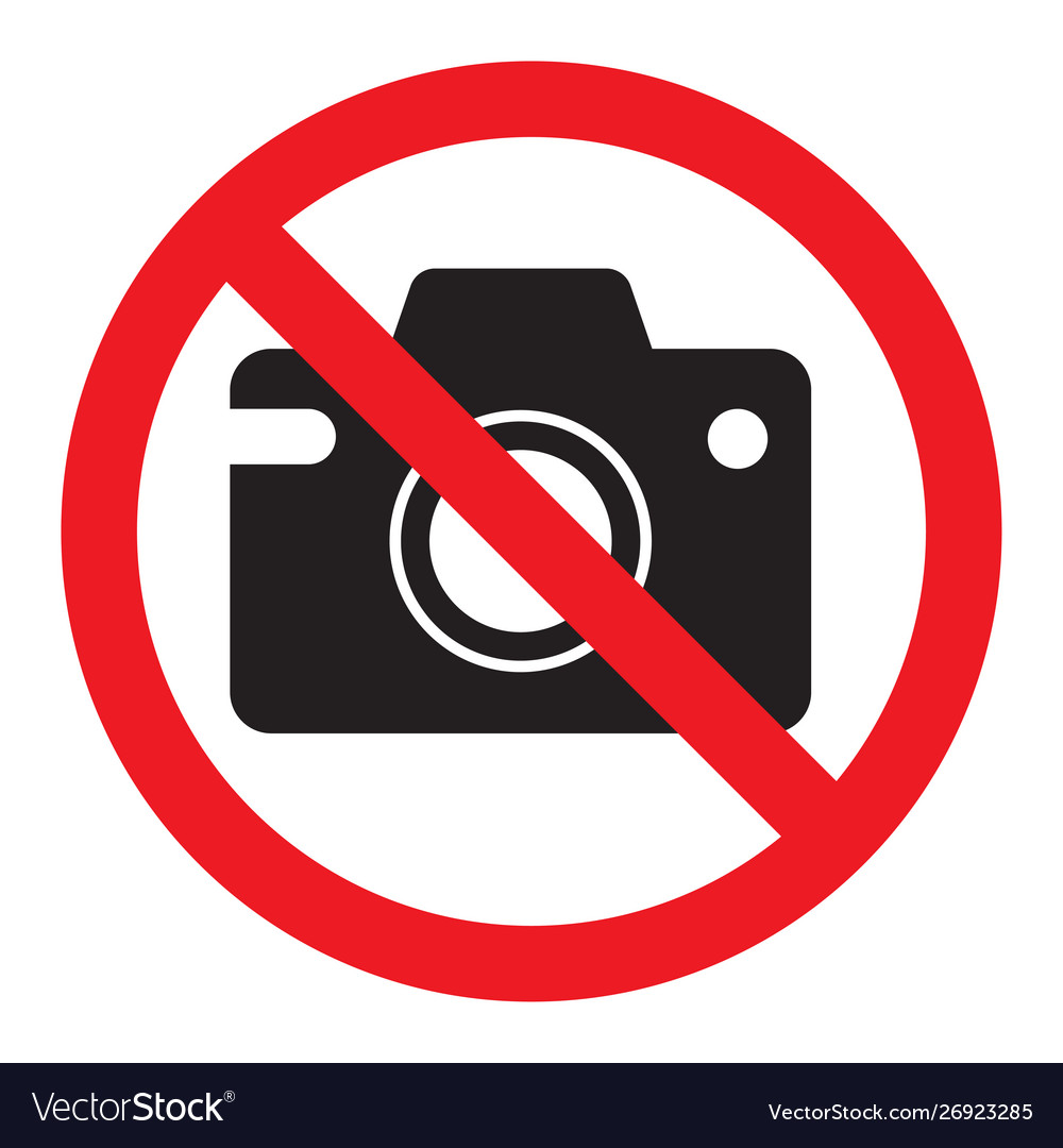Prohibiting sign photo video shooting is
