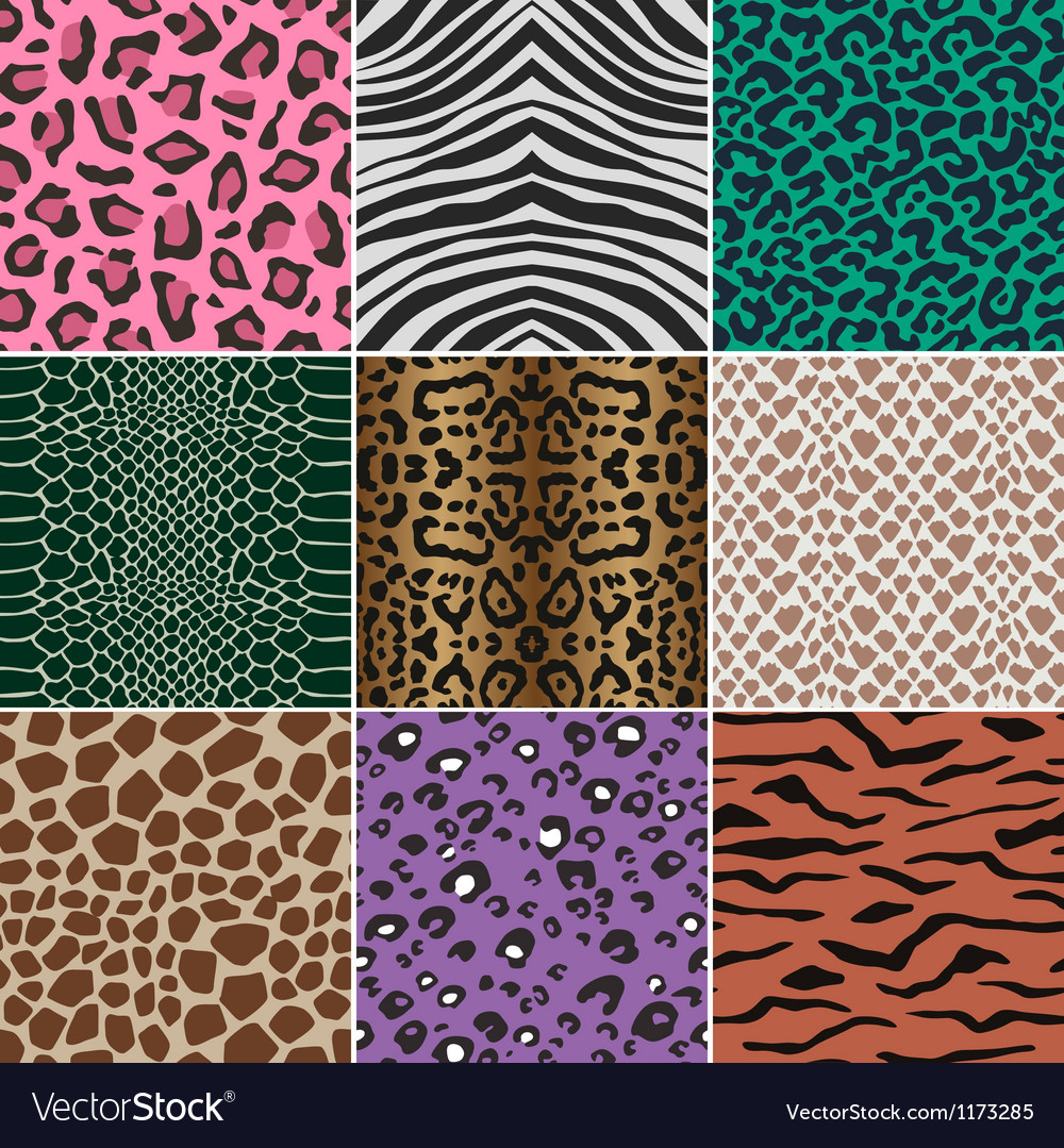 Seamless animal skin fabric pattern vector image